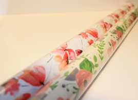 Flower patterned wrapping paper